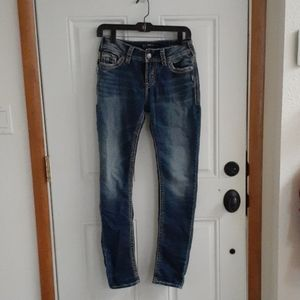 Silver  Skinny Jeans size 27